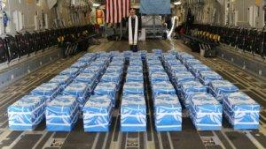 ארונות חיילים ממלחמת קוריאה הוחזרו על ידי צפון קוריאה לכוחות המערב וארה״ב