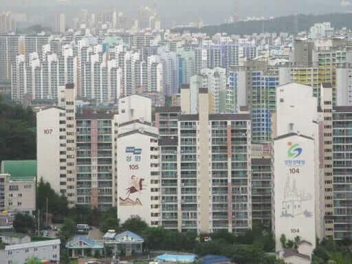 בנייני מגורים בסיאול, בירת דרום קוריאה