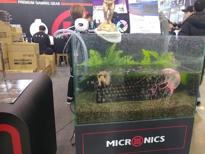 מקלדת מיוחדת למשחקי מחשב בכנס המשחקים בבוסן, דרום קוריאה