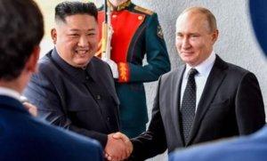 פגישת מנהיגי רוסיה וקוריאה הצפונית - ולדימיר פוטין וקים ג׳ונג און